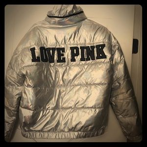 VS Pink Holographic Bling Limited Edition Coat SM